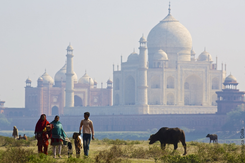 In Agra, Taj Mahal river banks January 21, 2013. (Gianluca Colla)