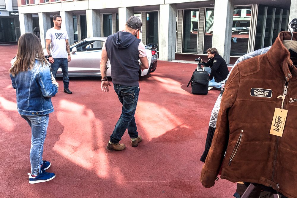 Gianluca Colla shooting in Flon, Lausanne (Switzerland)